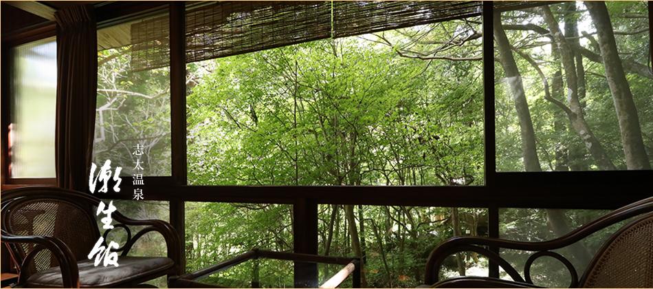 静岡県藤枝市 志太温泉にある緑に囲まれた静かな宿 潮生館へようこそ