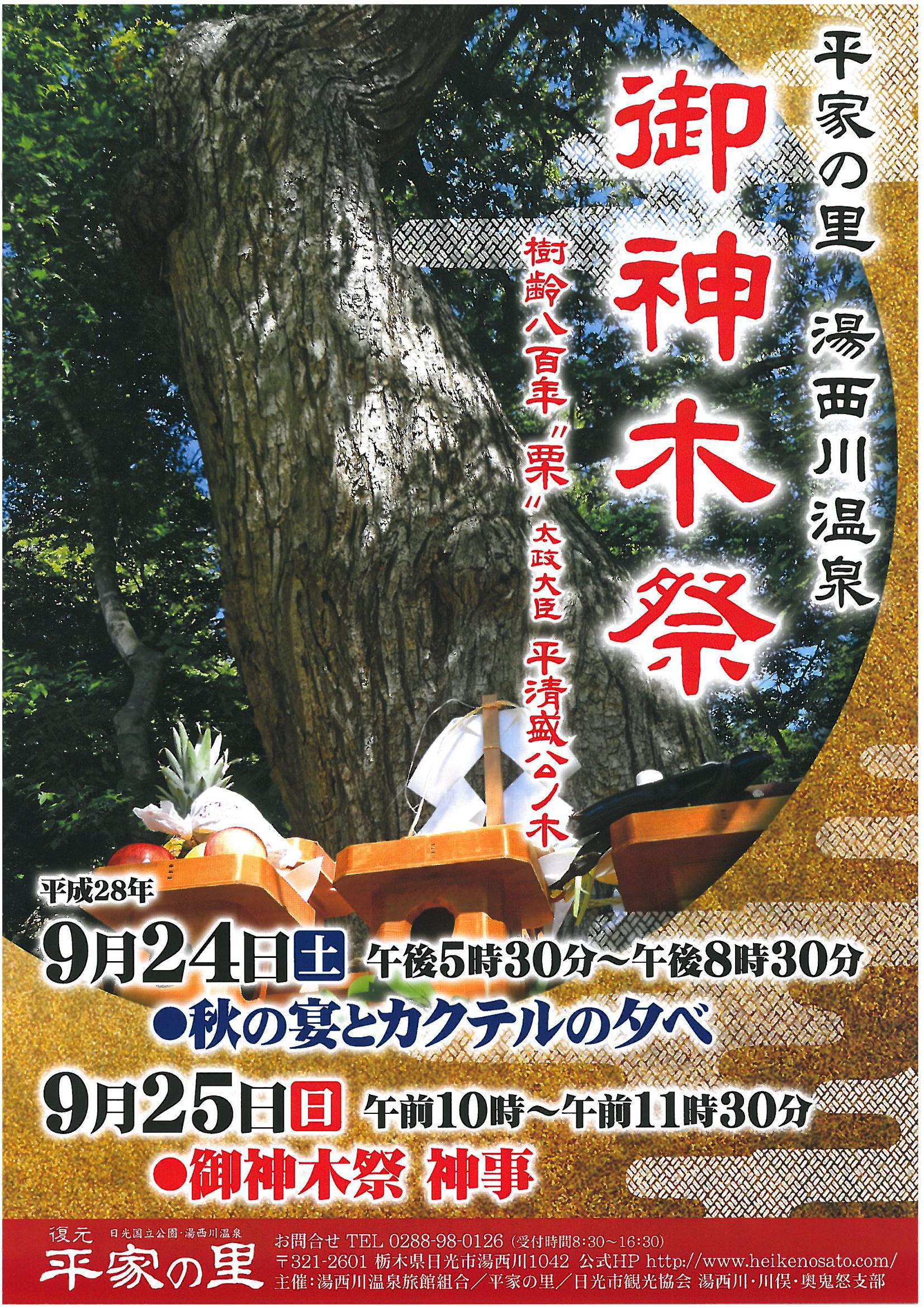 御神木祭2016年パンフレット表